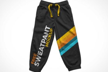Free Athletic Sweatpants Mockup in PSD