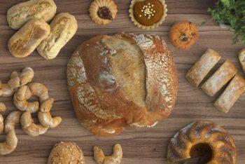 Free Productive Bakery Scene Mockup in PSD