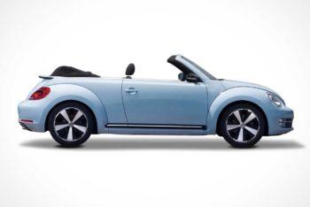 Free Modern Volkswagen Beetle Car Mockup