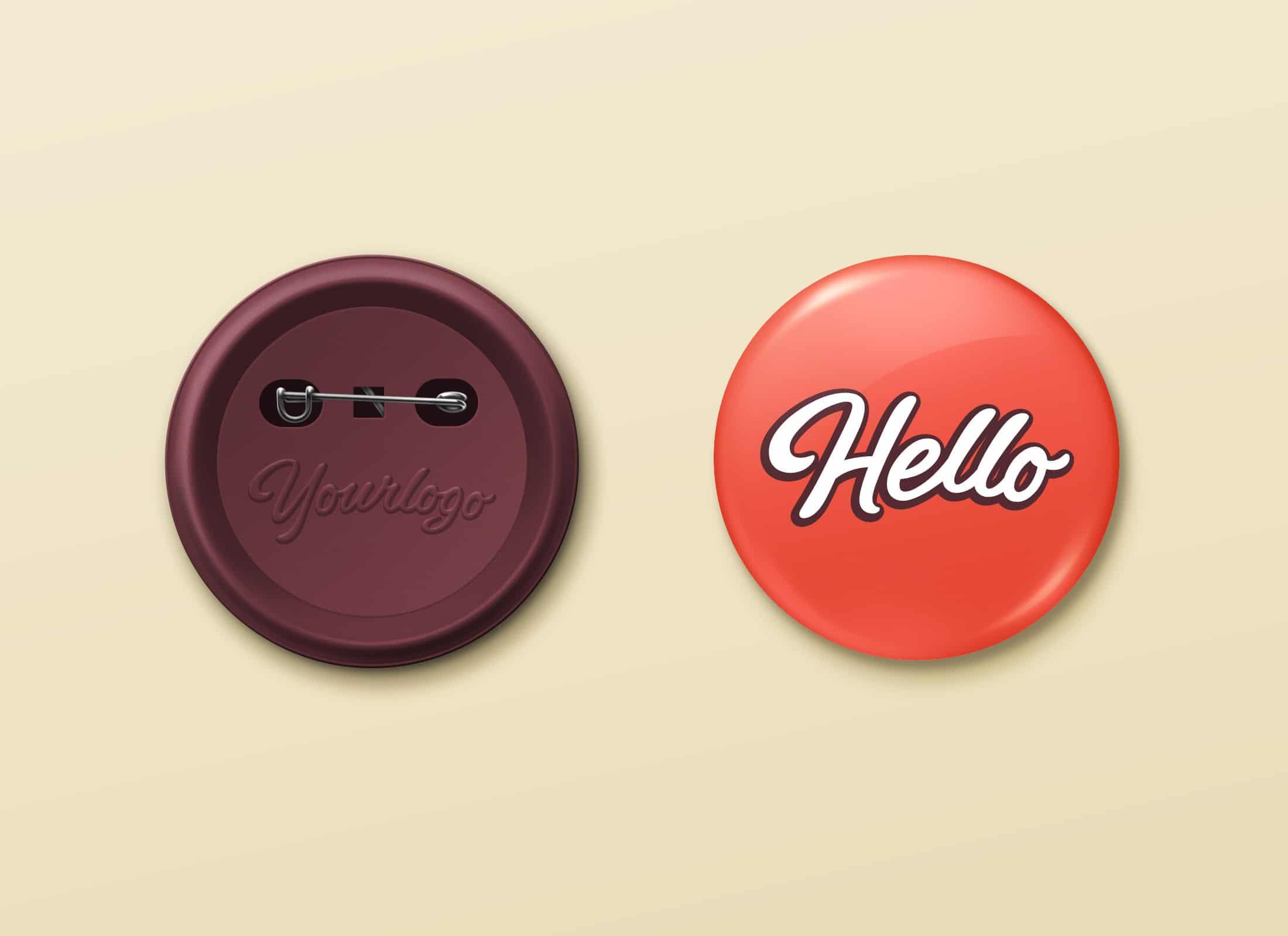 Button Pin Badge