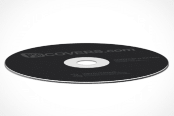 Free Compact Disc Cover Mockup in PSD