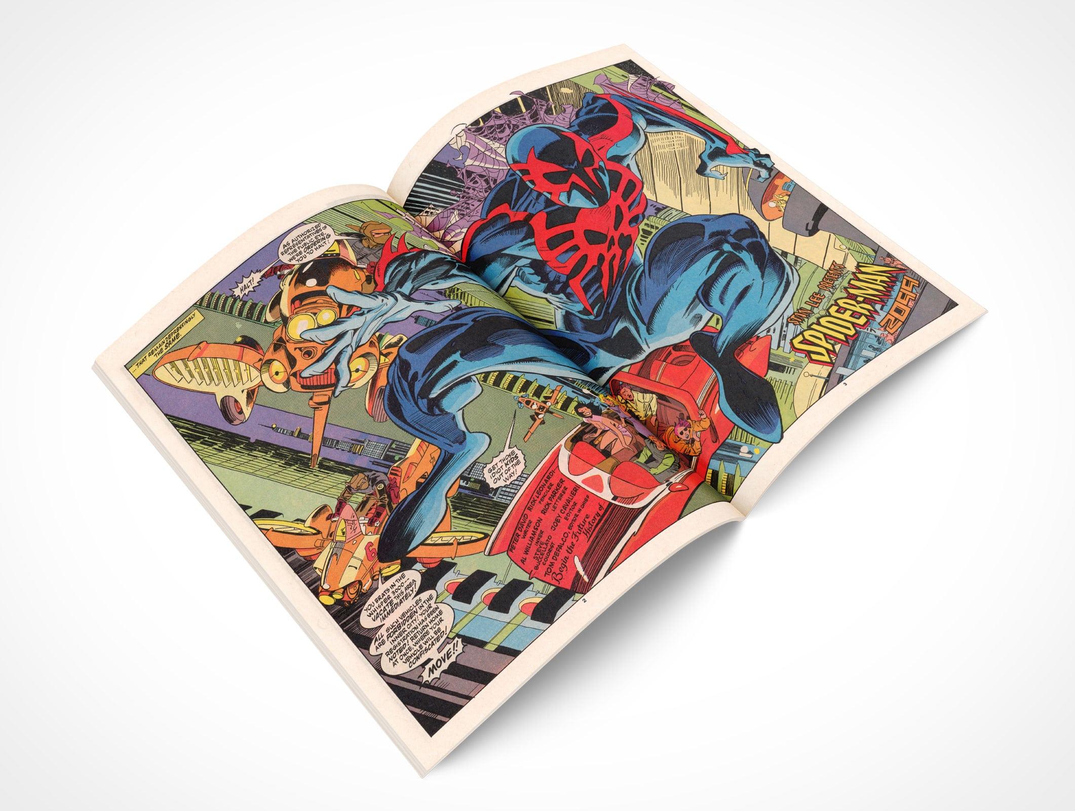 Comic Book Spread
