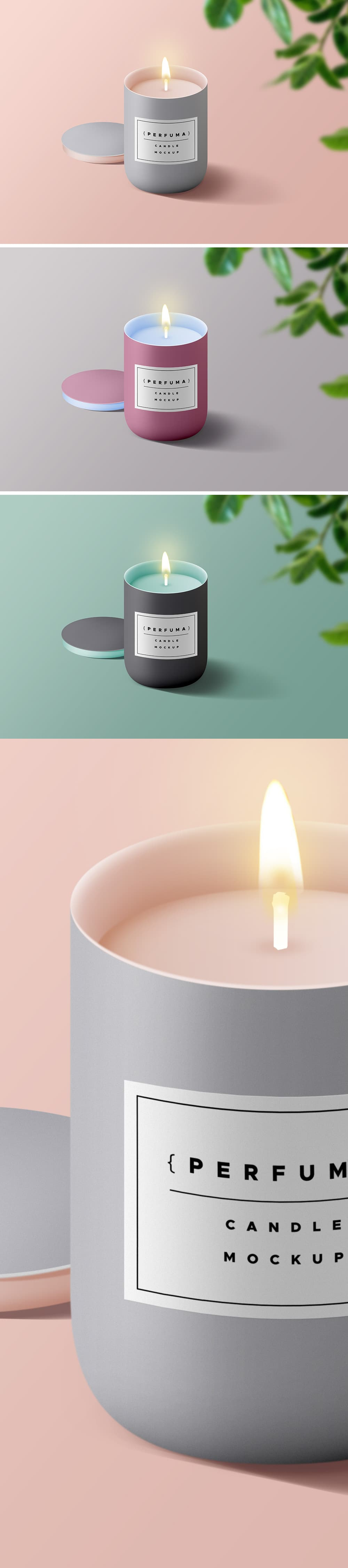 Wax Candle Plus Cover