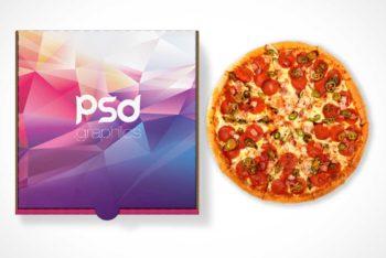Delicious Pizza Plus Closed Box Mockup Freebie