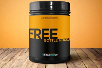 Free Sports Nutrition Bottle Mockup