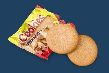 Free Cookie Packaging Mockup in PSD