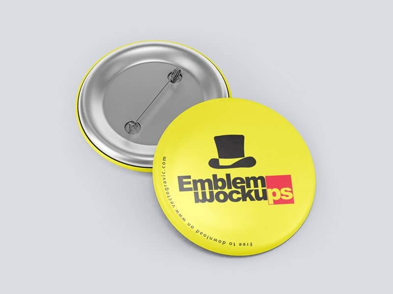 Funky Button Pin