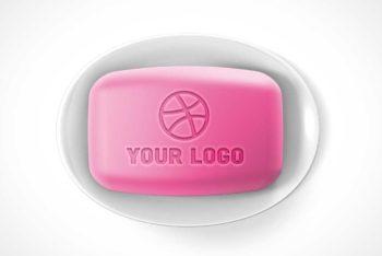 Free Soap Bar Engraved Logo Mockup