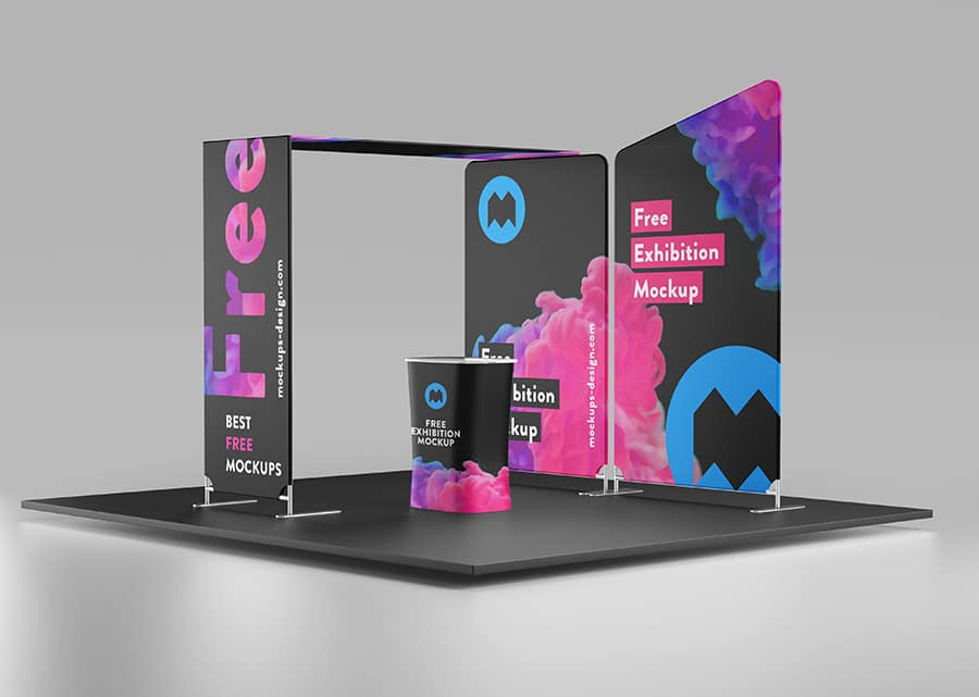 Exhibition Booth Mockup Psd : Free colorful exhibition booth mockup in psd designhooks