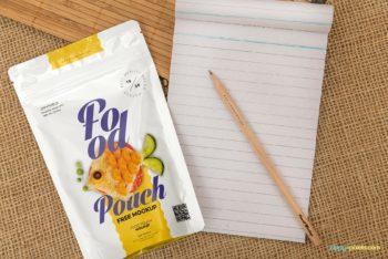 Colorful & Useful Food Pack PSD Mockup