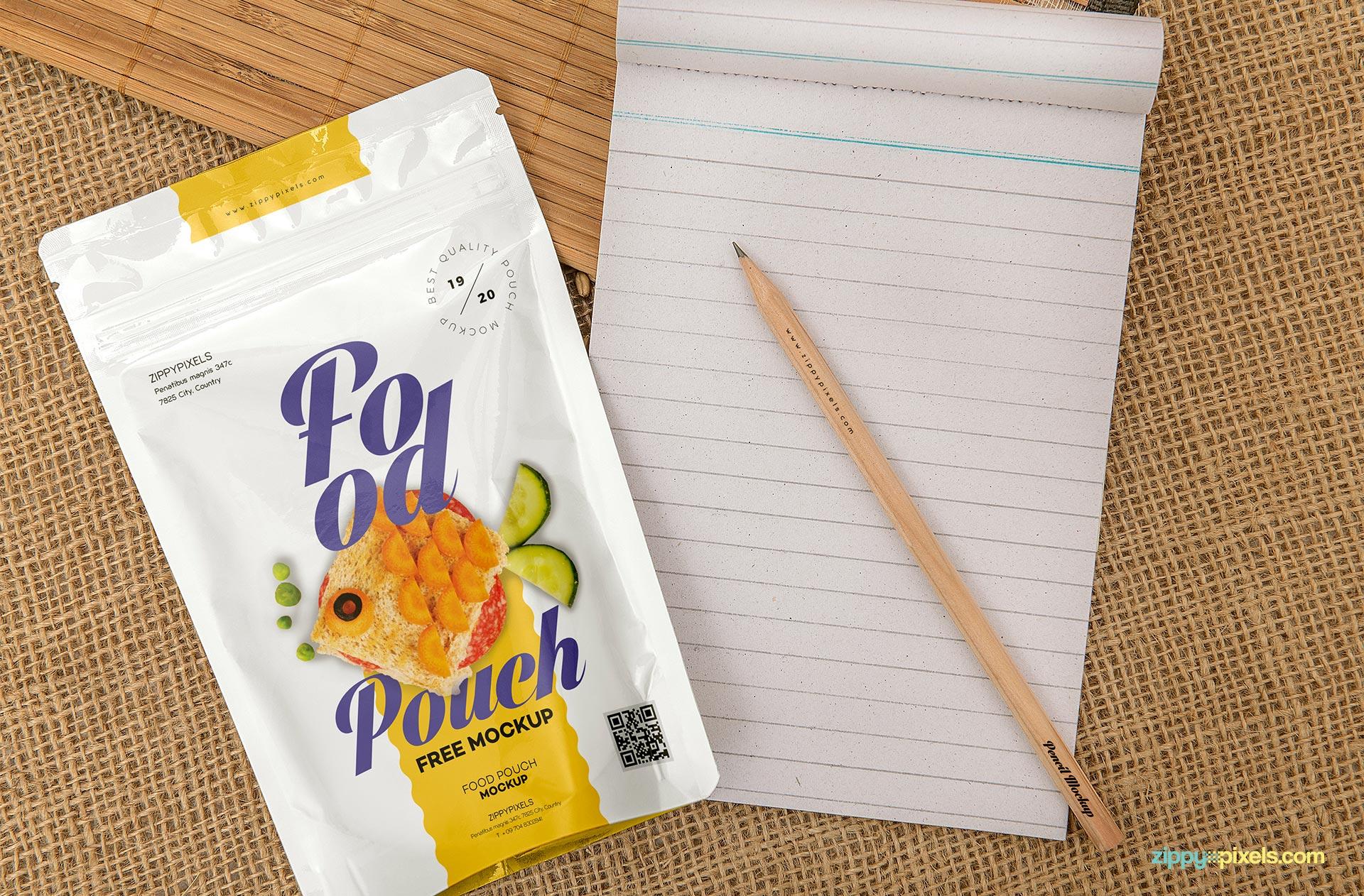 Food Pack PSD Mockup Design