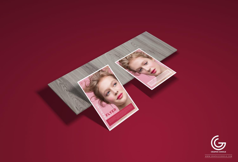 Flyer PSD Mockup Design for Marketing