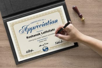Certificate PSD Mockup – Available in A4 Size