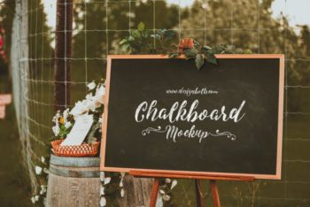 Chalkboard PSD Mockup – Apt for Personal & Commercial Purposes