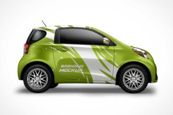 Free Electric Car Model Mockup in PSD
