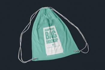 Drawstring Bag PSD Mockup For Photorealistic Presentation