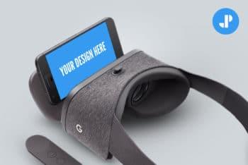 Free Google VR Device Mockup in PSD