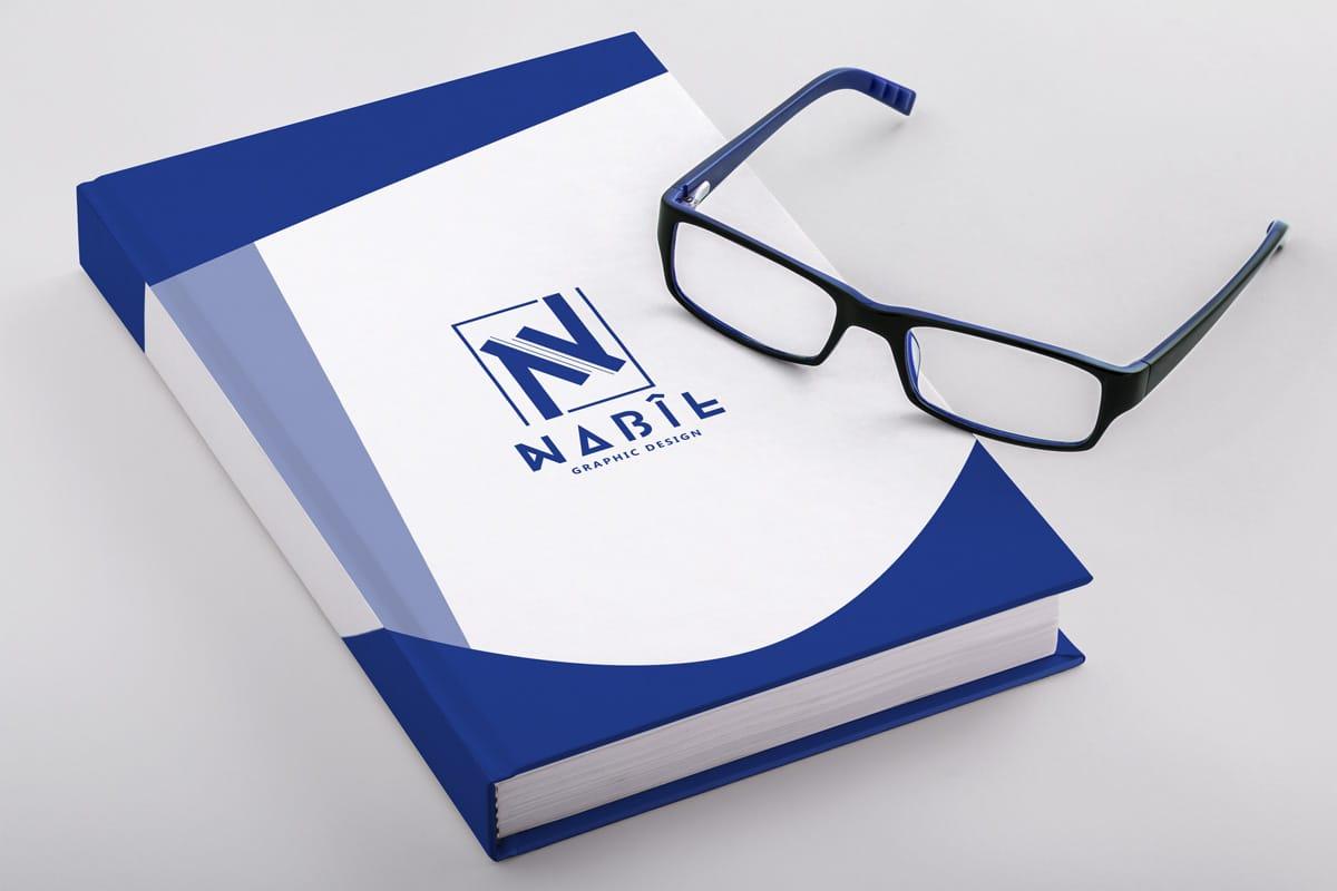 Hardcover Book PSD Mockup Template Design