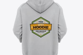 Free Cool Mens Hoodie Mockup in PSD
