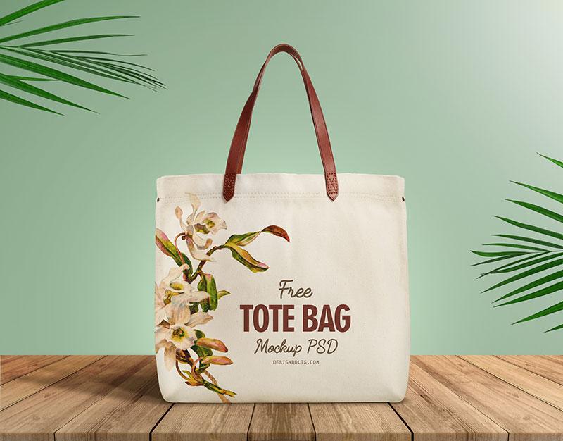 Cotton Made Tote Bag Psd Mockup