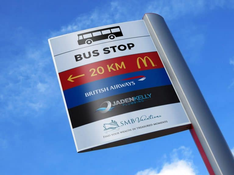 Advertising Pole Sign