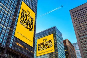 Free Skyscraper Billboard Scene Mockup