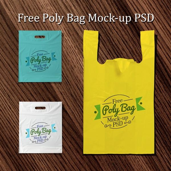 Polythene Bag PSD Mockup Design