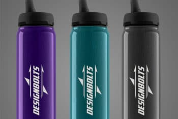 Free Water Bottle PSD Mockup – A Set Of 3