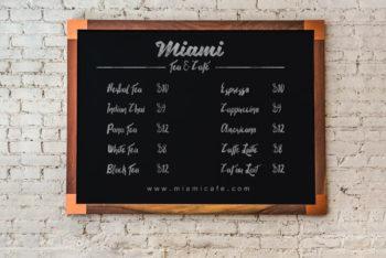 Free Shop Price Chalkboard Mockup