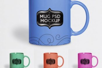 Cup and Mug PSD Mockup for Personal & Professional Usages