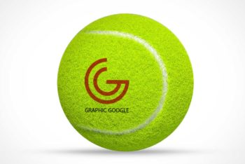 Free Tennis Ball Logo Mockup in PSD