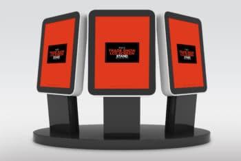 Free Trade Show LCD Screens Mockup