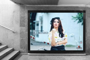 Fabulous Billboard PSD Mockup – Designed for Underground Metro Stations