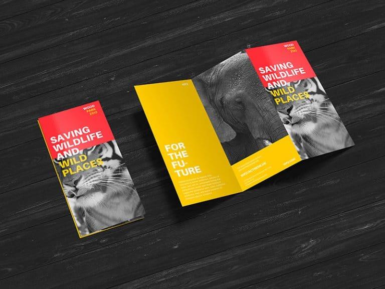 Free Brochur ePSD Mockup Design Template