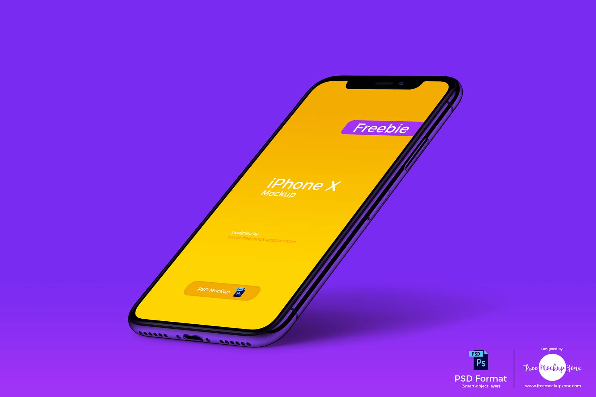 Free iPhone X Mockup for Photorealistic Presentation