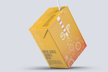 Juice Box PSD Mockup with User-friendly Features