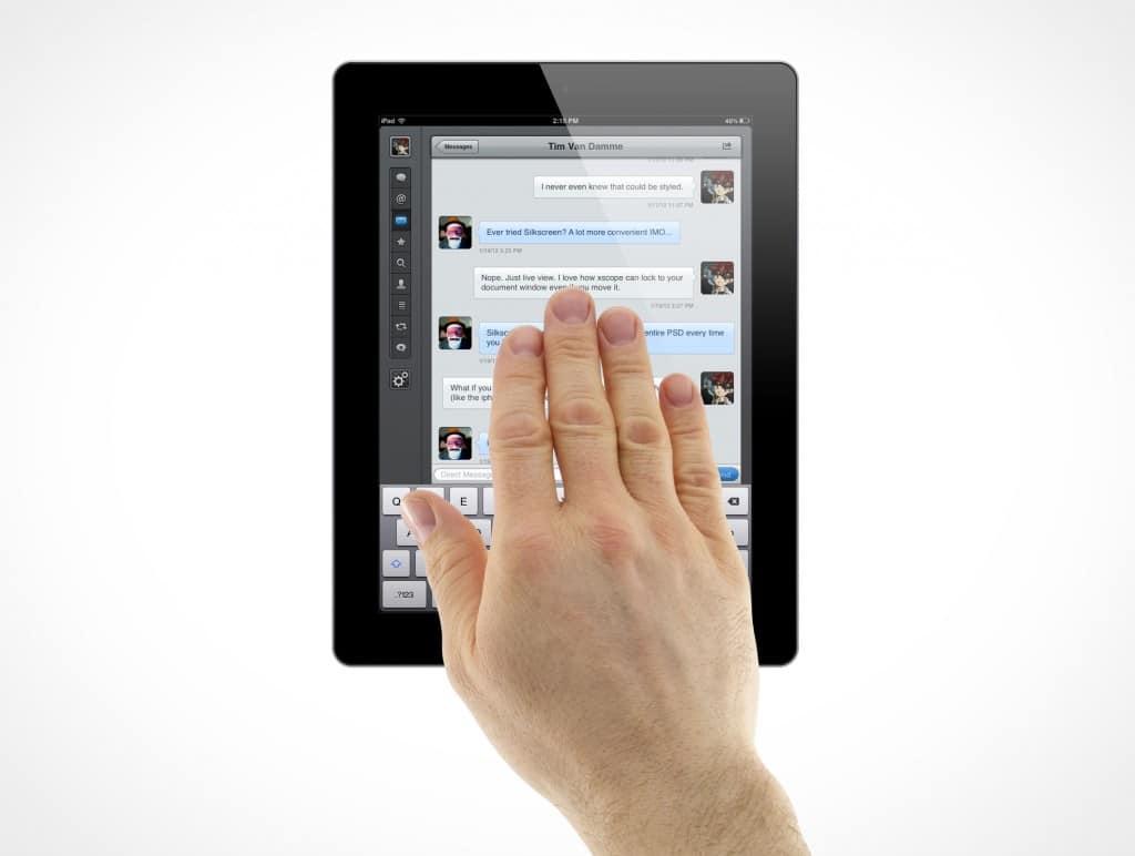 Tablet Hand Gestures