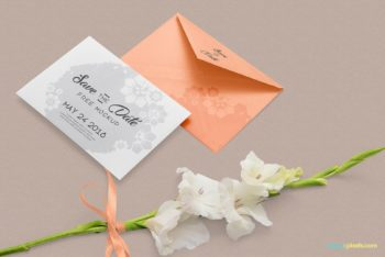 Greeting Card PSD Mockup with Beautiful Design & Useful Features