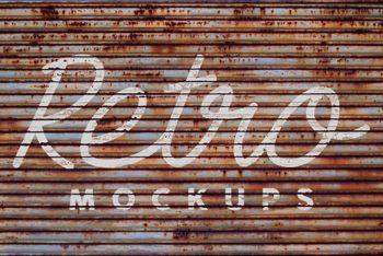 Free Dirty Wall Retro Logo Mockup
