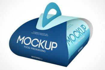 Free Easy Carry Food Packaging Mockup
