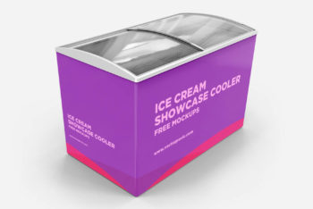 Ice Cream Cooler Mockup Freebie in PSD