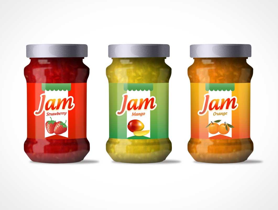 free jam jar label mockup in psd designhooks