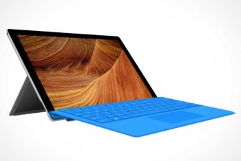 Free Microsoft Surface Pro Tablet Mockup