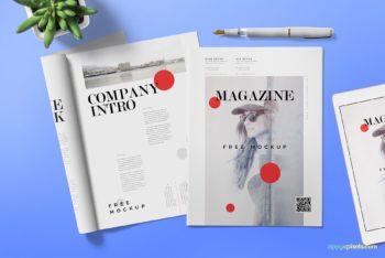 Photorealistic Magazine Ad PSD Mockup