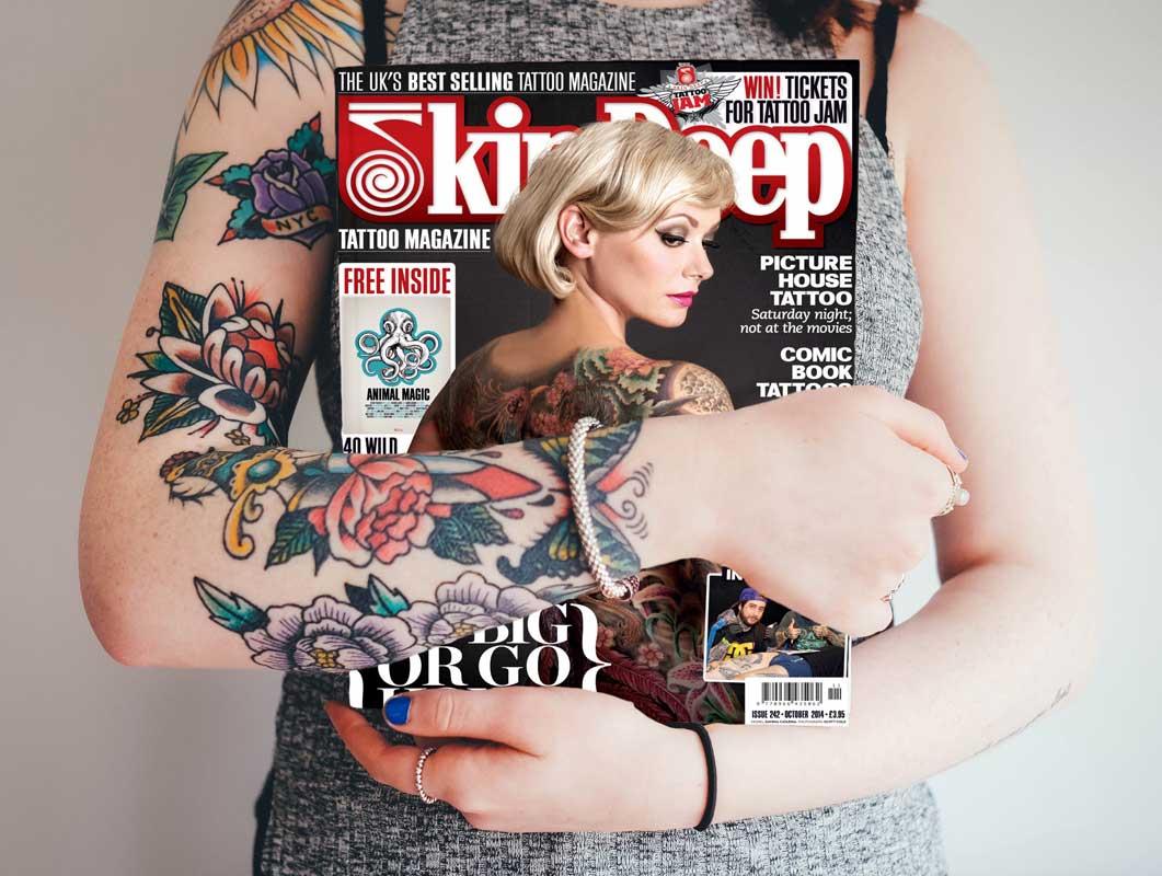 Magazine Plus Tattooed Woman