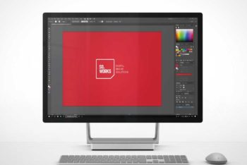 Free Microsoft Surface Studio Mockup
