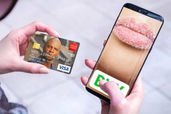 Free Smartphone Online Transaction Mockup