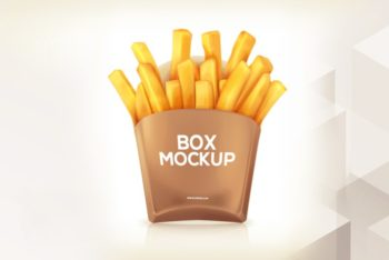 French Fries Box PSD Mockup – Useful Packaging & Great Look
