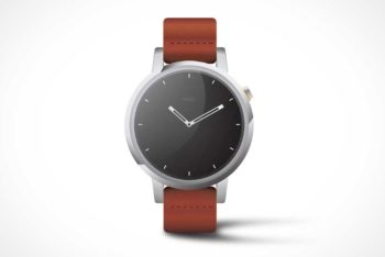 Free Moto360 Watch Mockup in PSD