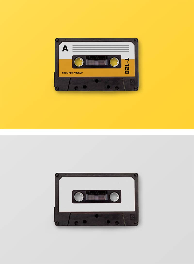 Free Compact Cassette Tape Mockup In Psd Designhooks